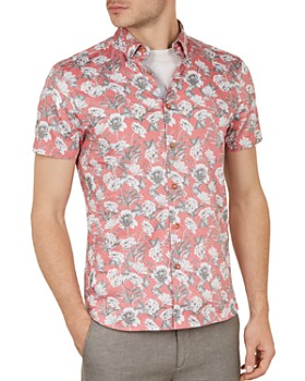 Ted Baker - Peachy Floral Print Slim Fit Button-Down Shirt