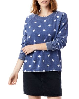 ALTERNATIVE APPAREL | Alternative Lazy Day Star Print Sweatshirt | Goxip