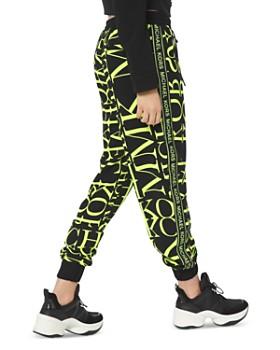 MICHAEL Michael Kors - Newsprint Logo Jogger Pants