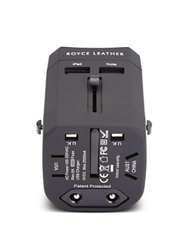 ROYCE New York - International Travel Adapter & Leather Case