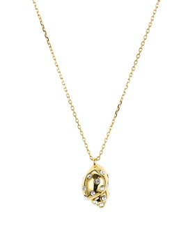 kate spade new york - Under the Sea Pavé Shell Pendant Necklace, 16""