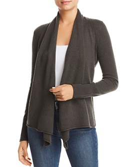 AQUA - Draped Open-Front Cashmere Cardigan - 100% Exclusive