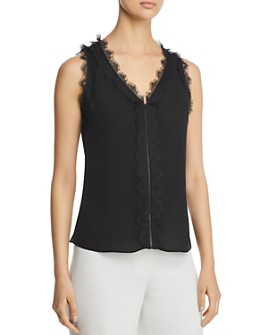 Kobi Halperin - Evelyn Lace-Trimmed Silk Top