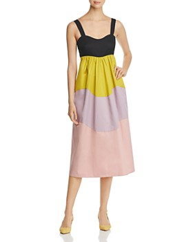 kate spade new york - Scalloped Color-Block Dress