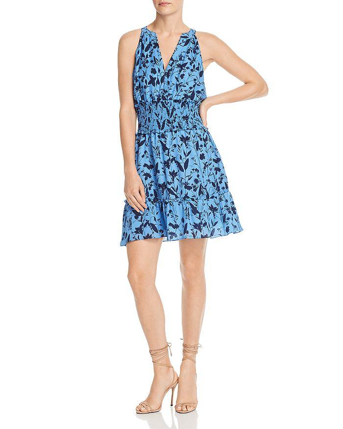 Parker - Cambria Floral-Print Smocked-Waist Silk Dress