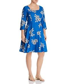 Maree Pour Toi Plus - Floral-Print A-Line Dress