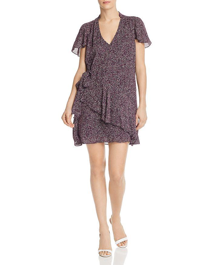 Parker - Indie Ruffled Printed Silk Dress