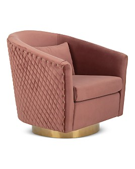 SAFAVIEH - Couture Clara Quilted Swivel Tub Chair