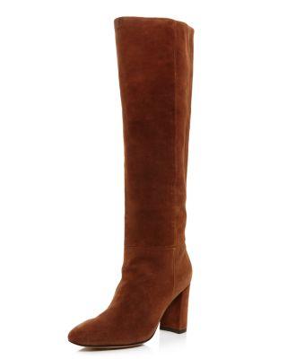 Biennial Tall Suede Block Heel Boots