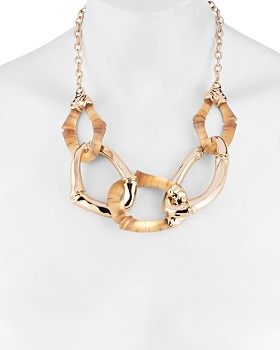 Alexis Bittar - Bamboo Link Necklace, 18""