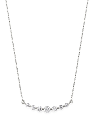 Bloomingdale's Diamond 7-Stone Bar Necklace in 14K White Gold, 1.0 ct. t.w. - 100% Exclusive