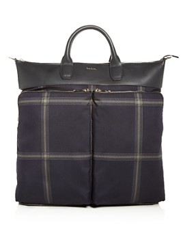 Paul Smith - Windowpane Check Tote