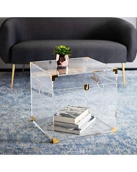 SAFAVIEH - Isidra Acrylic Trunk End Table