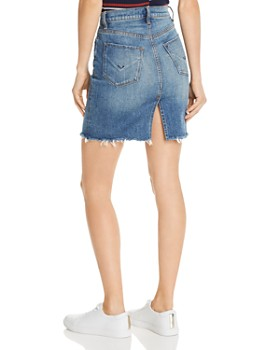Hudson - Lulu Cutoff Denim Mini Skirt in Vroom