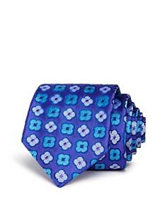 Ted Baker - Alternating 4-Petal Floral Skinny Tie