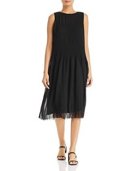 Eileen Fisher - Sleeveless Plissé Dress
