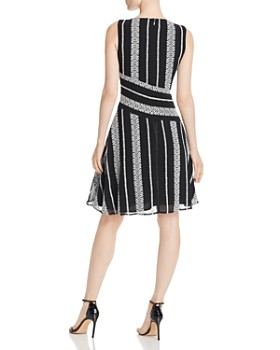 Donna Karan - Embroidered Sleeveless Dress