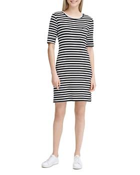 0d73307cbdf16 Calvin Klein - Striped Elbow-Sleeve Dress ...