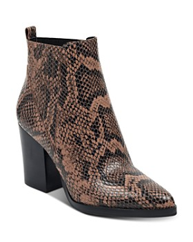 Marc Fisher LTD. - Women's Alva Snake-Print Booties