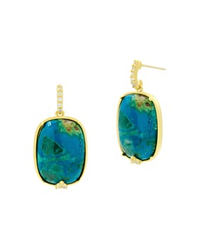 Freida Rothman - Harmony Stone Drop Earrings in 14K Gold-Plated Sterling Silver