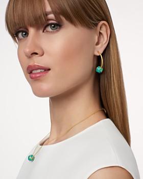 Freida Rothman - Harmony Ball Hoop Earrings in 14K Gold-Plated Sterling Silver
