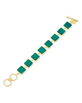 Freida Rothman - Harmony Stone Link Bracelet in 14K Gold-Plated Sterling Silver