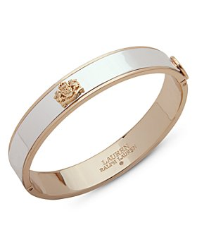 Ralph Lauren - Two-Tone Crest Bangle Bracelet