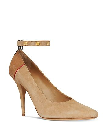 Burberry - Women's Studded Ankle Strap Pumps