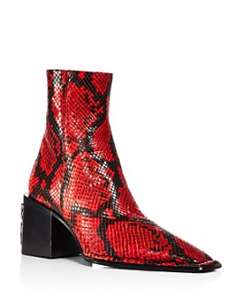 Alexander Wang - Women's Parker Snake-Embossed Leather Ankle Boots