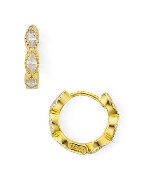 AQUA - Evil Eye Huggie Hoop Earrings in 18K Gold-Plated Sterling Silver or Platinum-Plated Sterling Silver - 100% Exclusive