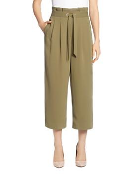 T Tahari - Paperbag-Waist Cropped Pants