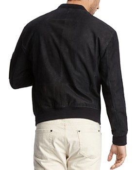 John Varvatos Collection - Suede Regular Fit Bomber Jacket