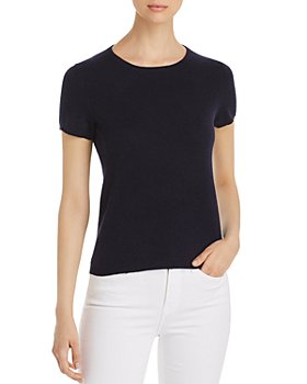 C by Bloomingdale's - Short-Sleeve Cashmere Sweater - 100% Exclusive