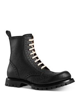 ea522f68df7c Gucci - Men's Leather Brogue Lace-Up Boots ...