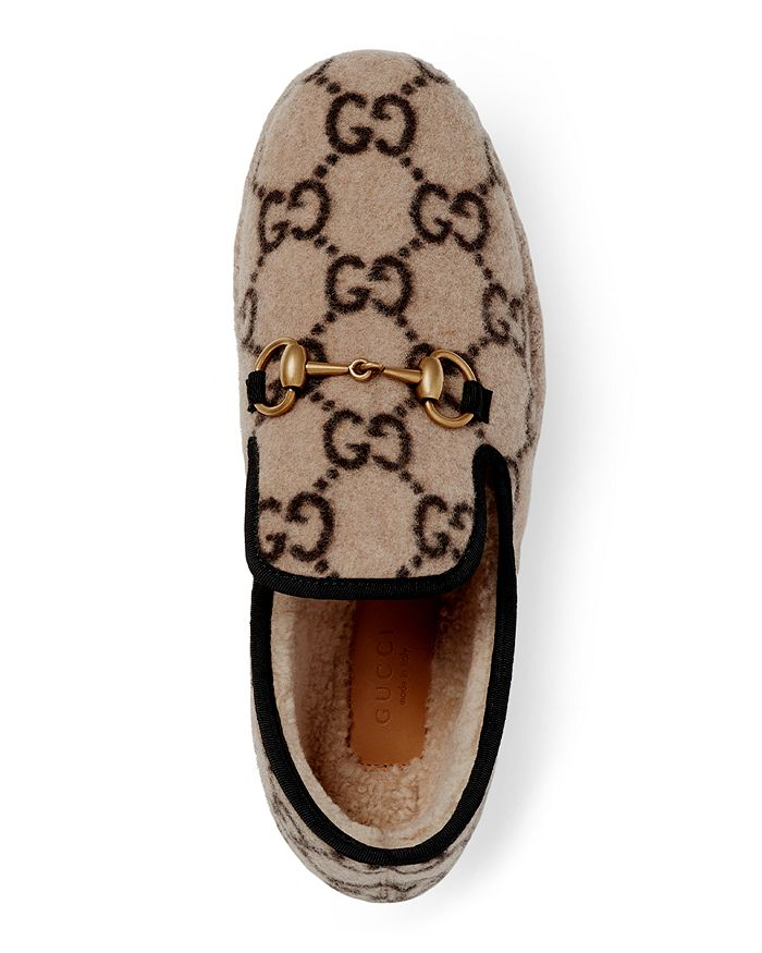 8c1ca0b4c Gucci Women's Fria GG Wool Loafers | Bloomingdale's