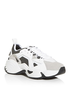 Armani - Men's Leather Low-Top Sneakers