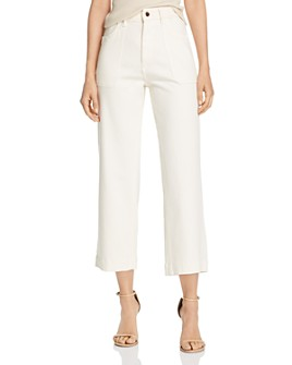 DL1961 - DL1961 x Marianna Hewitt Hepburn High-Rise Cropped Wide-Leg Jeans