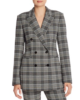 Theory - Power Glen Plaid Double-Breasted Blazer - 100% Exclusive