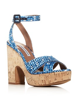 Tabitha Simmons - Women's Elena Crisscross Platform Wedge Sandals - 100% Exclusive