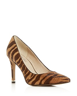 Kenneth Cole - Women's Riley Animal-Print Calf Hair Pointed-Toe Pumps