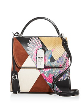 Salvatore Ferragamo - Women's Boxyz Mixed Media Satchel