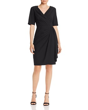 Donna Karan - Pleated Faux-Wrap Dress
