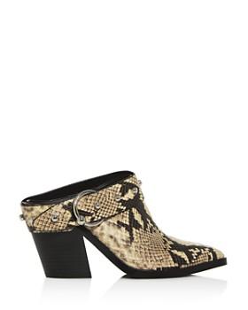 Rebecca Minkoff - Women's Sallest Studded Block-Heel Mules