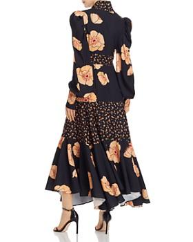 Acler - Elton Mixed-Florals Long-Sleeve Dress