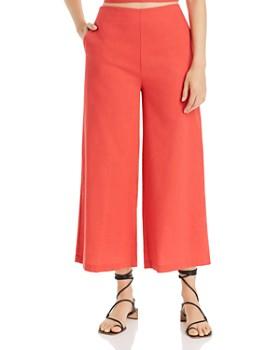 AQUA - Wide-Leg Cropped Pants - 100% Exclusive