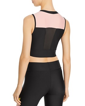 PUMA - Chase Zip-Front Cropped Top