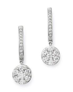 Bloomingdale's - Cluster Diamond Drop Earrings in 14K White Gold, 1.0 ct. t.w. - 100% Exclusive