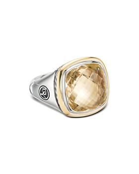 David Yurman - Sterling Silver & 18K Yellow Gold Albion Champagne Citrine Ring
