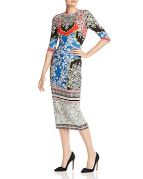 3e4f3e68375b Alice and Olivia - Delora Floral Midi Dress ...