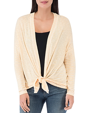 B Collection by Bobeau Cecile Striped Tie-Front Cardigan